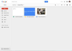 Thumbnail of screen shot of Google Drive
