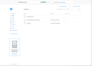 Thumbnail of screen shot of Dropbox