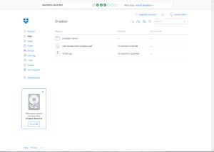 Thumbnail of screen shot of Dropbox