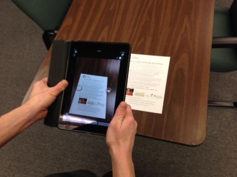 Taking image of printed page
