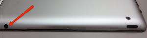 Image showing the iPad audio jack