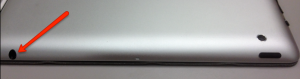 Image showing the iPad audio jack