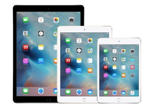 Image of three different versions of the iPad