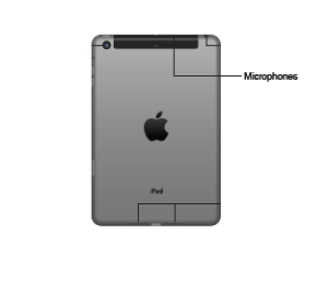 Image showing the location of the microphone on the iPad 3