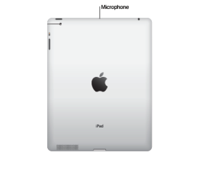 Image showing the locating of the microphone on the iPad 1
