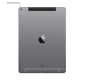 Image showing the location of the microphone on the iPad Pro