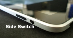 Image showing the side switch on the iPad