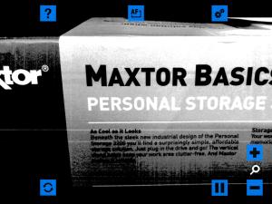 Screen shot of VisionAssist app in Color Video SmartText mode