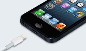 Image of lighting cable iPhone charger