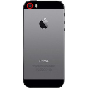 Image of the rear facing camera on the iPhone