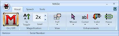 MAGic User Interface showing the visual tab